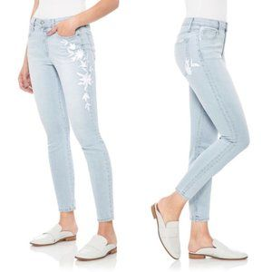 Joe's Icon Floral Embroidered Skinny Crop Jeans 28